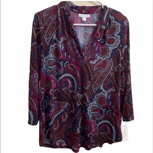 Charter club printed blouse